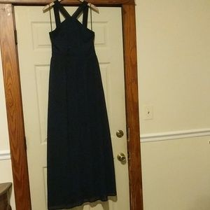 Lulus Navy Blue 'Air of Romance' style dress L